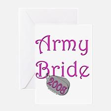 Army Bride Dog Tag 2008.png Greeting Card