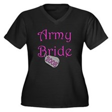 Army Bride Dog Tag 2008.png Women's Plus Size V-Ne