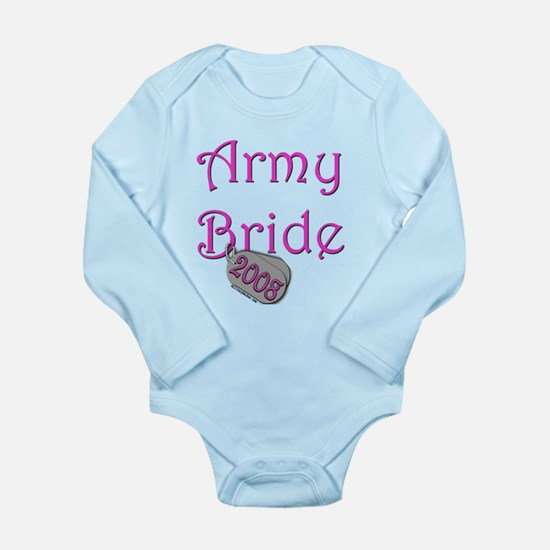 Army Bride Dog Tag 2008.png Long Sleeve Infant Bod