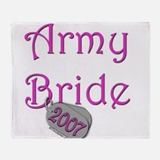 Army Bride Dog Tag_2007.png Throw Blanket