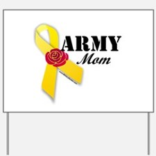 Army Mom (Ribbon Rose) Yard Sign