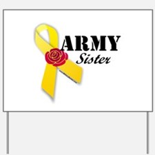 Army Sister (Ribbon Rose) Yard Sign