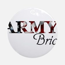 Funny Army bride Round Ornament
