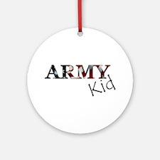 Cool Army bride Round Ornament