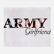 Unique Army girlfriend Throw Blanket