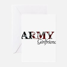 Cute Proud army girlfriend Greeting Cards (Pk of 10)