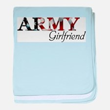 Funny Army girlfriend baby blanket