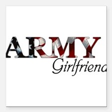 """Funny Army wife Square Car Magnet 3"""" x 3"""""""