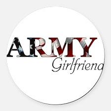 Unique Army girlfriend Round Car Magnet