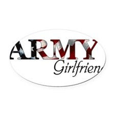 Unique Army wife Oval Car Magnet