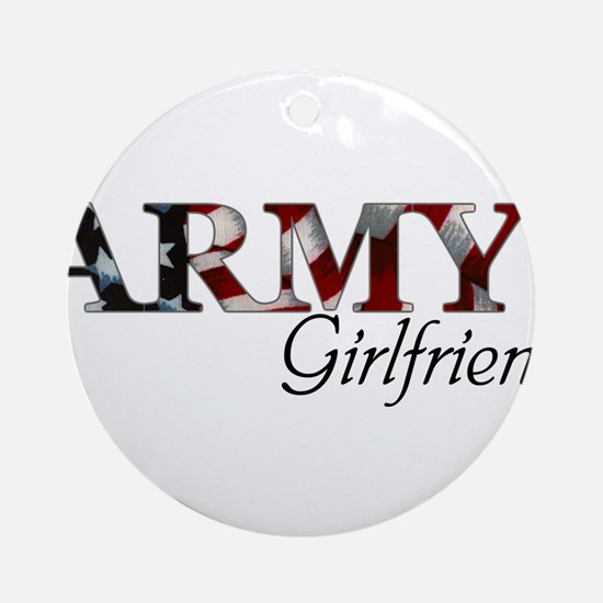 Unique Army girlfriend Round Ornament