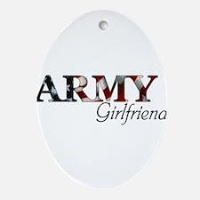 Cute Army mom Oval Ornament