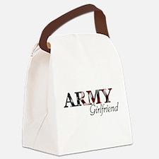 Unique Army girlfriend Canvas Lunch Bag