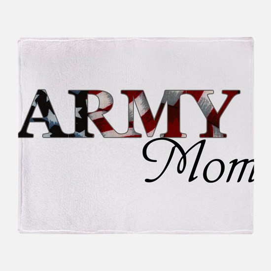 Army Mom (Flag) Throw Blanket