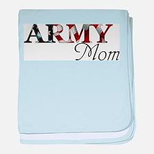 Army Mom (Flag) baby blanket