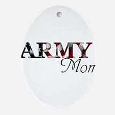 Army Mom (Flag) Oval Ornament