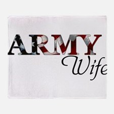 Cute Army wife Throw Blanket