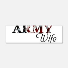 Cute Army wife Car Magnet 10 x 3