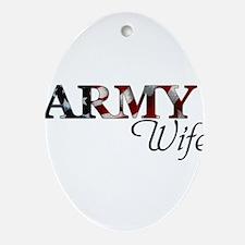 Unique Army mom Oval Ornament