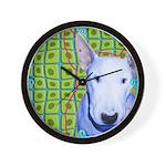 Bull Terrier dog Wall Clock