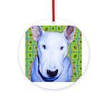 Bull Terrierdog Ornament (Round)