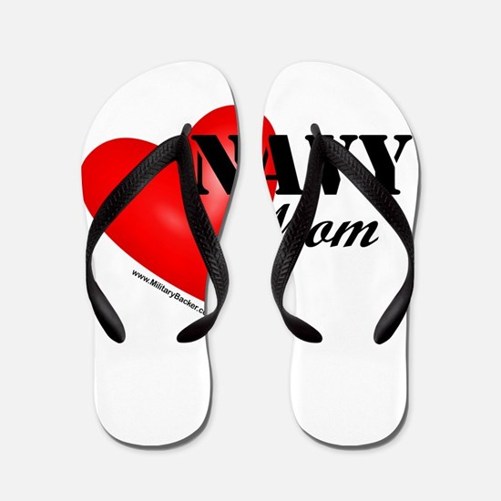 Red Heart_Navy_Mom.png Flip Flops