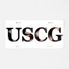 Cute Coastie wife Aluminum License Plate
