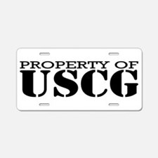 Property of USCG Aluminum License Plate