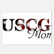 Mom USCG_flag .png Postcards (Package of 8)