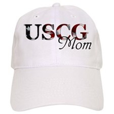 Mom USCG_flag .png Baseball Baseball Cap