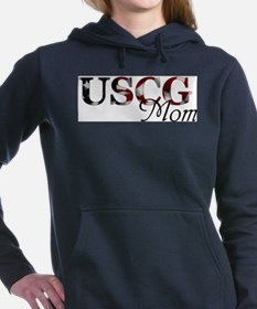 Mom USCG_flag .png Women's Hooded Sweatshirt