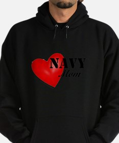 Red Heart_Navy_Mom.png Hoodie (dark)