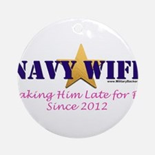 Late for PT Navy 2011.png Round Ornament