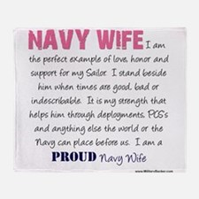 I am...Navy Wife.png Throw Blanket