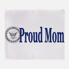 Cool Proud mom of a sailor Throw Blanket