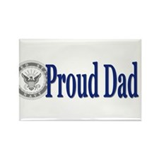 Cute Military dad Rectangle Magnet (100 pack)