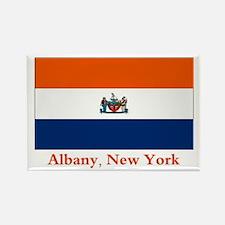 Albany NY Flag Rectangle Magnet