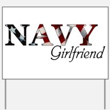Unique Navy fiance Yard Sign