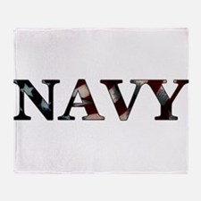 Funny Proud mom of a sailor Throw Blanket