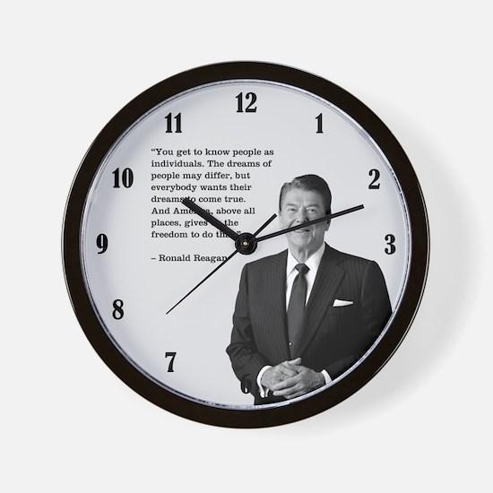 PRES40 INDIVIDUALS Wall Clock