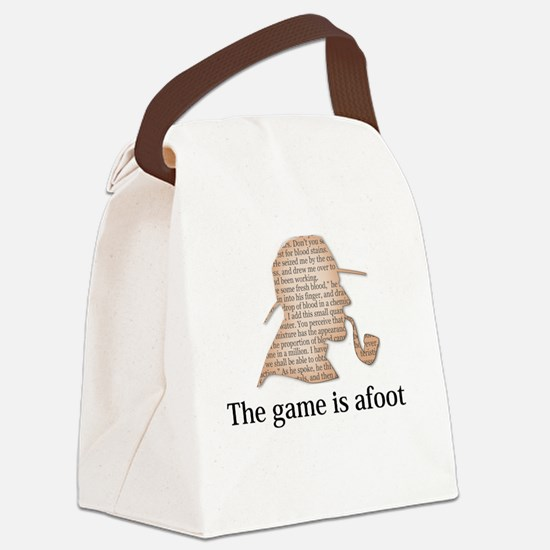 the game is afoot Sherlock Holmes Canvas Lunch Bag