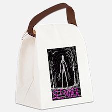 creepy thin slender skinny man Canvas Lunch Bag