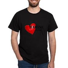 Red Heart_Marine_Mom T-Shirt