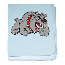 grey bulldog baby blanket
