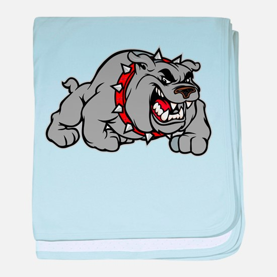 grey bulldog baby blanket