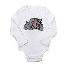 grey bulldog Body Suit