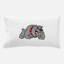 grey bulldog Pillow Case