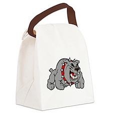 grey bulldog Canvas Lunch Bag