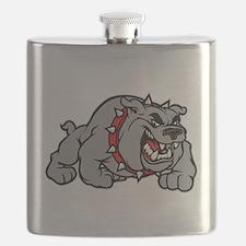 grey bulldog Flask
