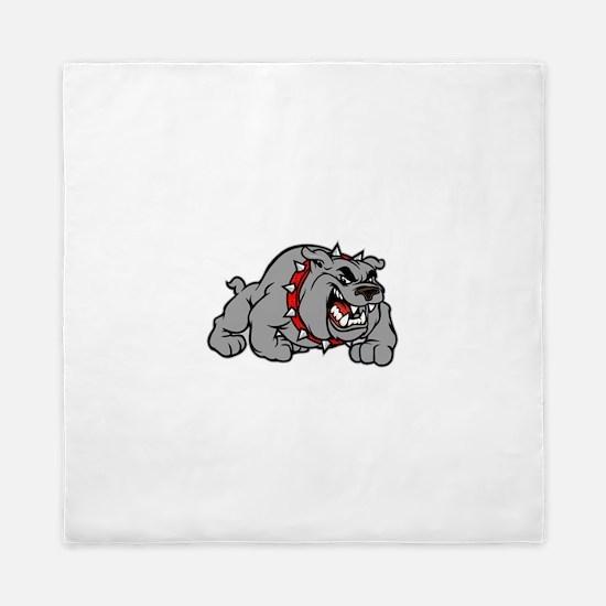 grey bulldog Queen Duvet